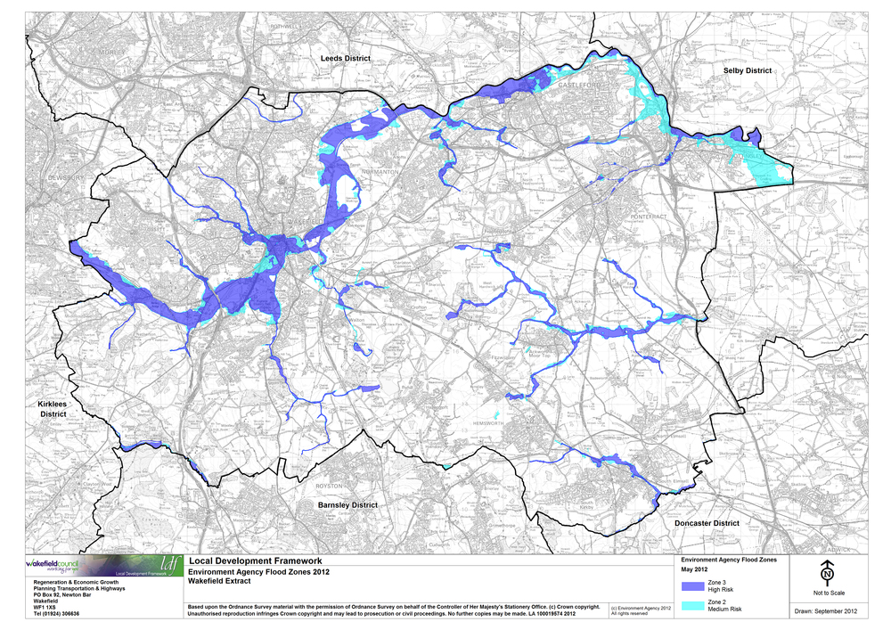 Environment Agency Flood Map For Planning Wakefield Council   Site Specific Policies Local Plan   Adopted  Environment Agency Flood Map For Planning